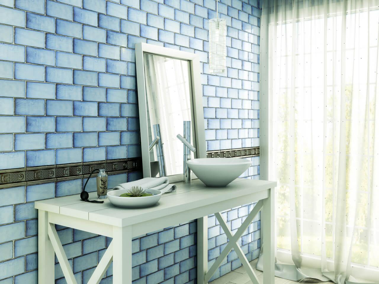 azulejos baños rústicos