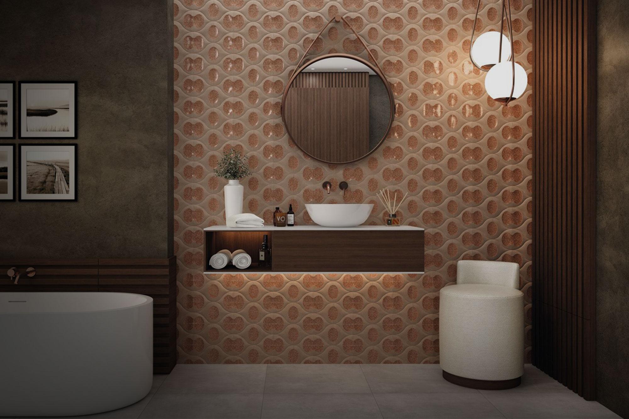 azulejos vintage baño