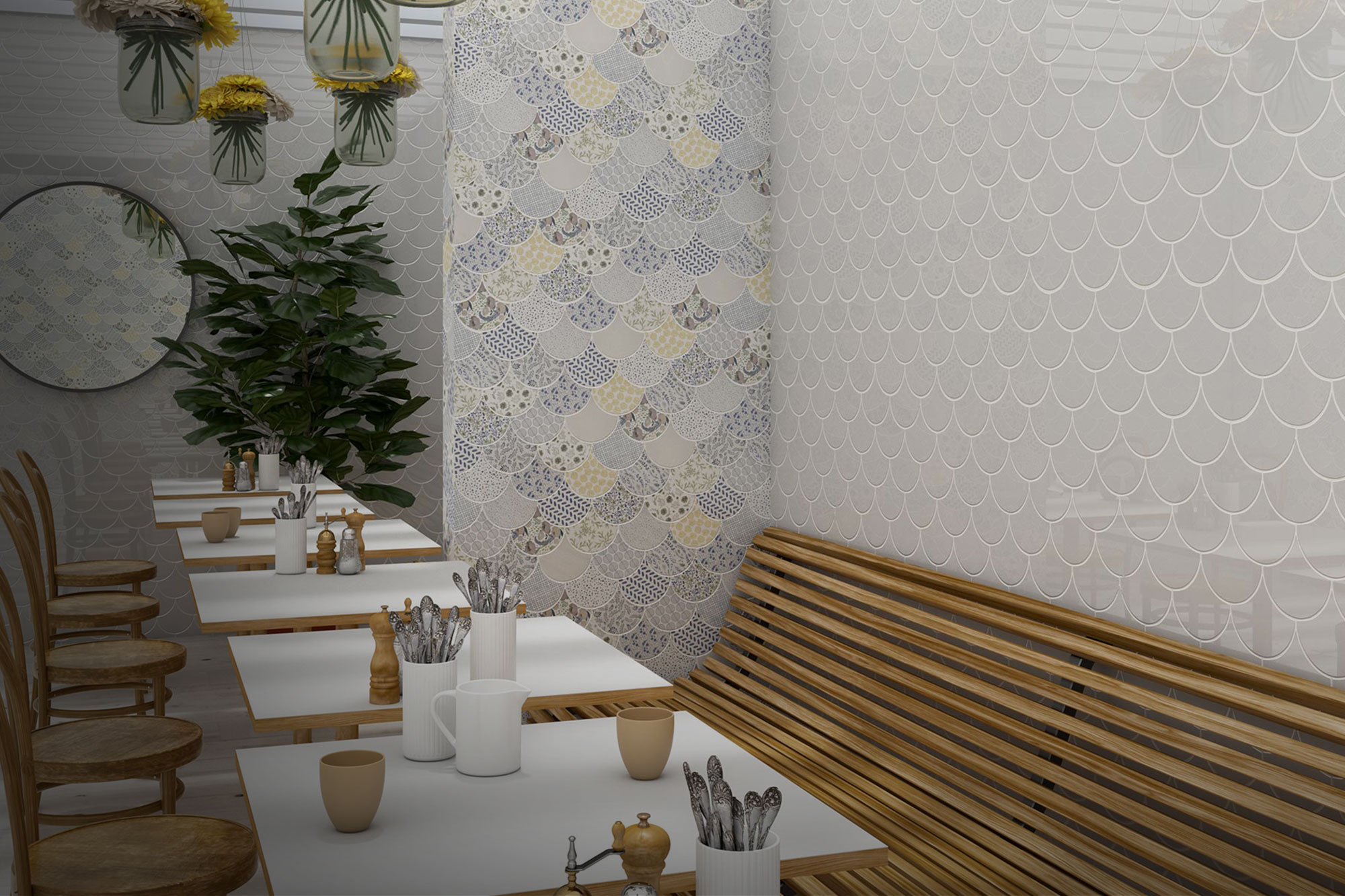 ambientes cerámicos restaurantes