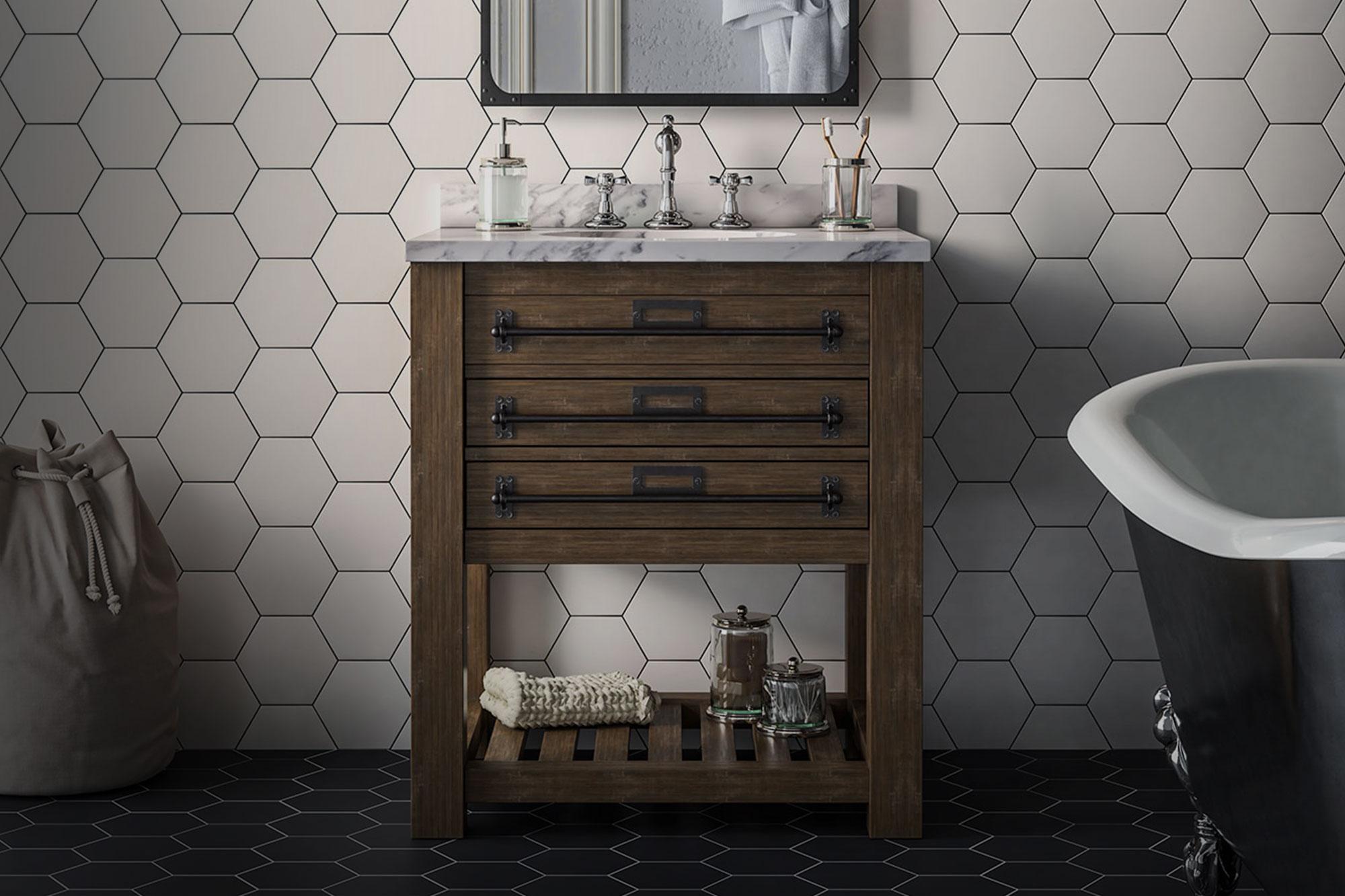Azulejos hexagonales para baño