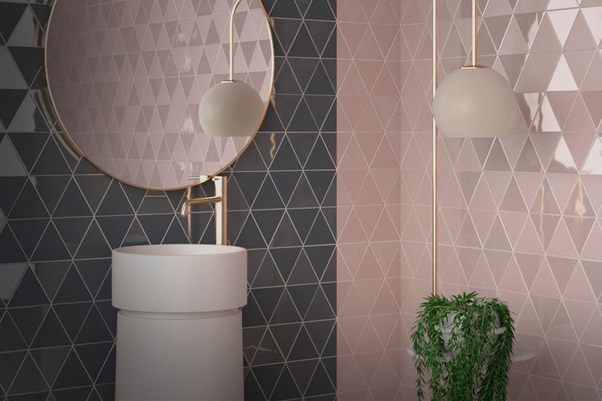 Hydraulic bathroom tiles